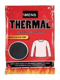 Mens Black Thermal Long Sleeve Vest