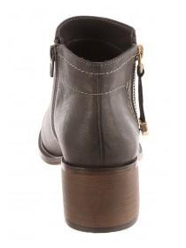 Womens Grey Side Zip Boots