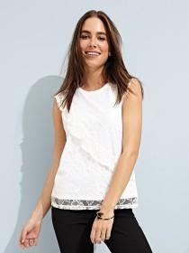 Womens White Lace Top