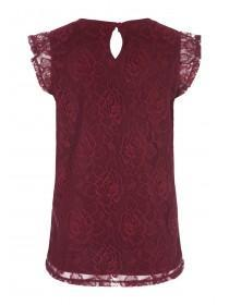 Womens Berry Lace Top