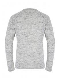 Mens Light Grey Knitted Polo Top