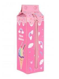 Girls Pink Carton Pencil Case