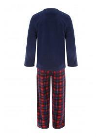 Mens Blue and Red Fleece Pyjamas