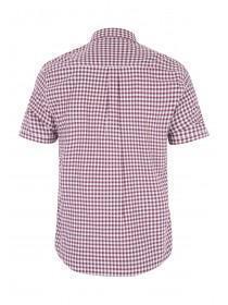 Mens Red Check Short Sleeve Shirt
