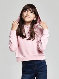 Older Girls Pink Hooded Sweatshirt