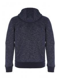 Mens Dark Blue Zip Up Hoody