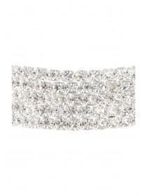 Womens Silver Diamante Torque Occasion Necklace