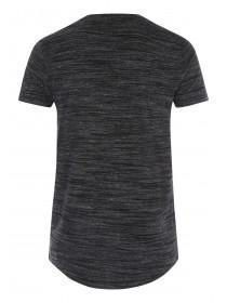 Mens Black Longline T-Shirt