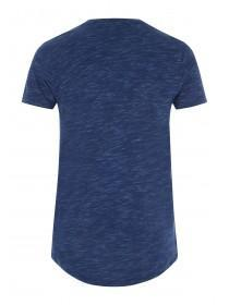 Mens Blue Longline T-Shirt