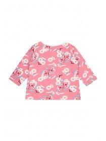 Baby Girls Pink Floral Long Sleeve T-Shirt