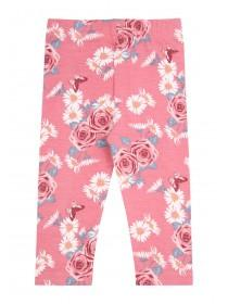 Baby Girls Cream Floral Leggings