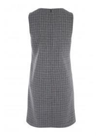 Womens Grey Check Dress