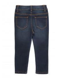 Younger Girls Dark Blue Skinny Jeans