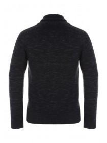 Mens Charcoal Cable Knit Jumper