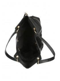 Womens Black Zig Zag Bag