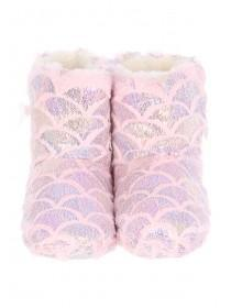 Girls Mermaid Slipper Boots
