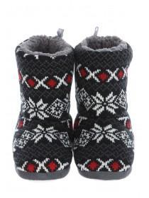 Boys Fairisle Slipper Boots