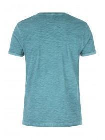 Mens Basic Green Space Dye T-Shirt