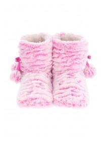 Girls Tiered Slipper Boots
