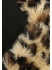 Womens Black Fur Trim Gloves