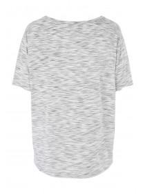 Womens Grey Curved Hem Slogan T-Shirt
