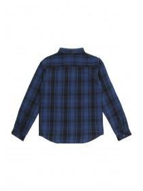 Older Boys Blue Check Shirt