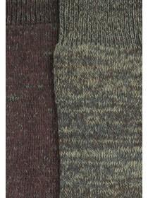 Mens 2PK Spacedye Socks