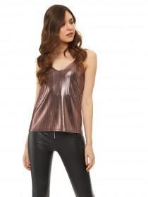 Jane Norman Pink metallic cami top