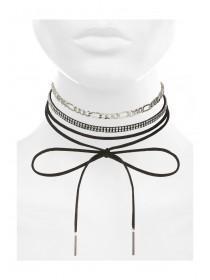 Womens Black 3PK Necklace