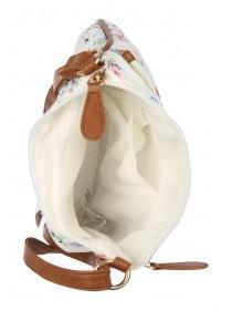 Womens Cream Floral Canvas Bag