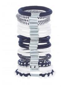 Girls Blue 19pk Hair Bobbles