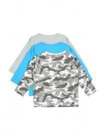 Younger Boys 3PK Long Sleeve Tshirts
