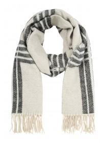 Womens Large Check Print Scarf
