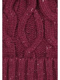 Mens Burgundy Pom Hat
