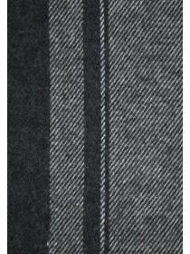 Mens Grey Striped Scarf