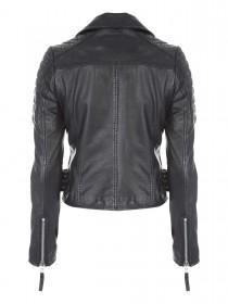 Jane Norman Black Zip Leather Jacket