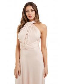 Jane Norman pale pink maxi dress