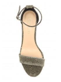 Womens Gold Block Heels