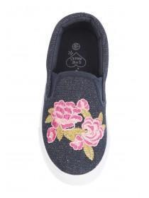 Younger Girls Embellished Slip On Trainers