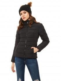 Jane Norman Black Padded Zip Up Coat