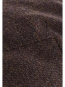 Mens Mid Brown Flat Cap