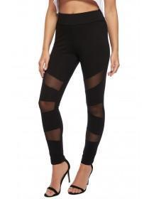 Jane Norman Black Mesh Leggings
