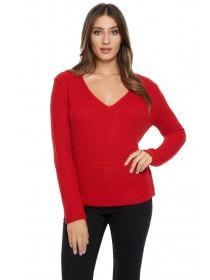 Jane Norman Red Bar Back Jumper