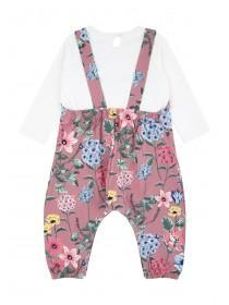 Baby Girls Floral Jumpsuit Set
