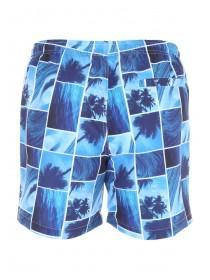 Mens Blue Beach Photo Swimshorts
