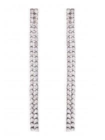 Womens Diamante Drop Earrings