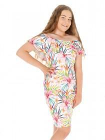 Older Girls Sophie Frilled Bardot Party Dress