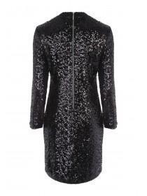 Womens Black Sequin Dress