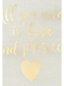 Womens Gold Prosecco Slogan Cushion