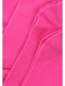 Womens 4PK Pink Micofibre Trainer Socks